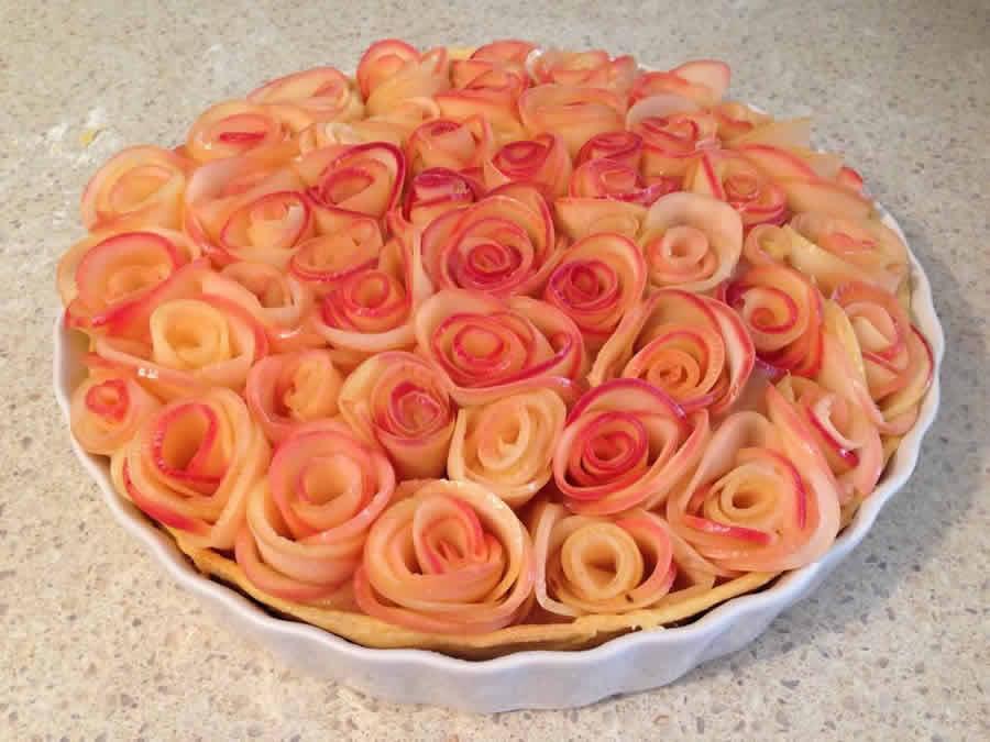 Tarte Aux Fleurs De Pommes Au Thermomix Recette Thermomix