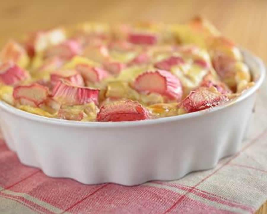 Tarte aux pommes et à la rhubarbe au thermomox