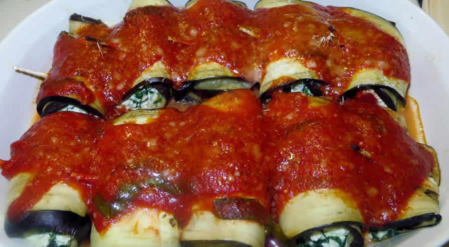 Cannelloni d'aubergine farcis au thon au thermomix