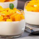 Mousse à la vanille et mangue caramélisés au Thermomix