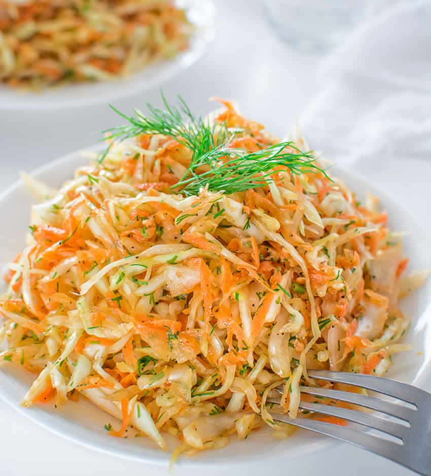 Salade au chou carottes et noix au thermomix