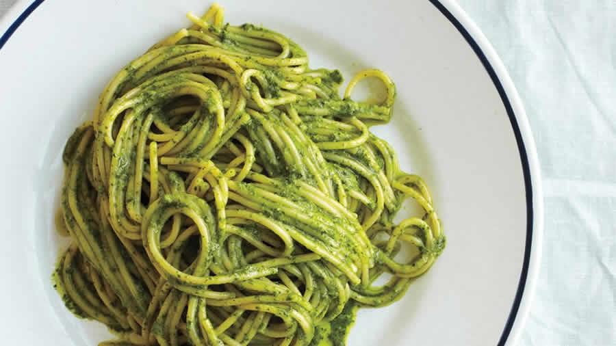 Spaghetti au pesto au thermomix