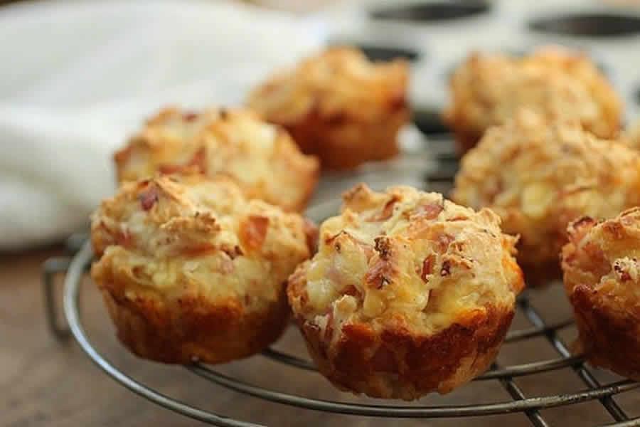 Muffins au Jambon et Mozzarella au Thermomix