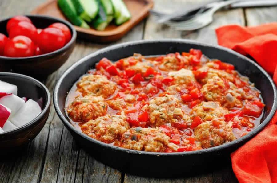 Poulet sauce tomate et poivron au Thermomix
