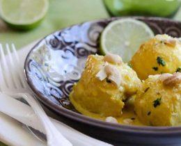 Cabillaud en sauce curry et coco au thermomix