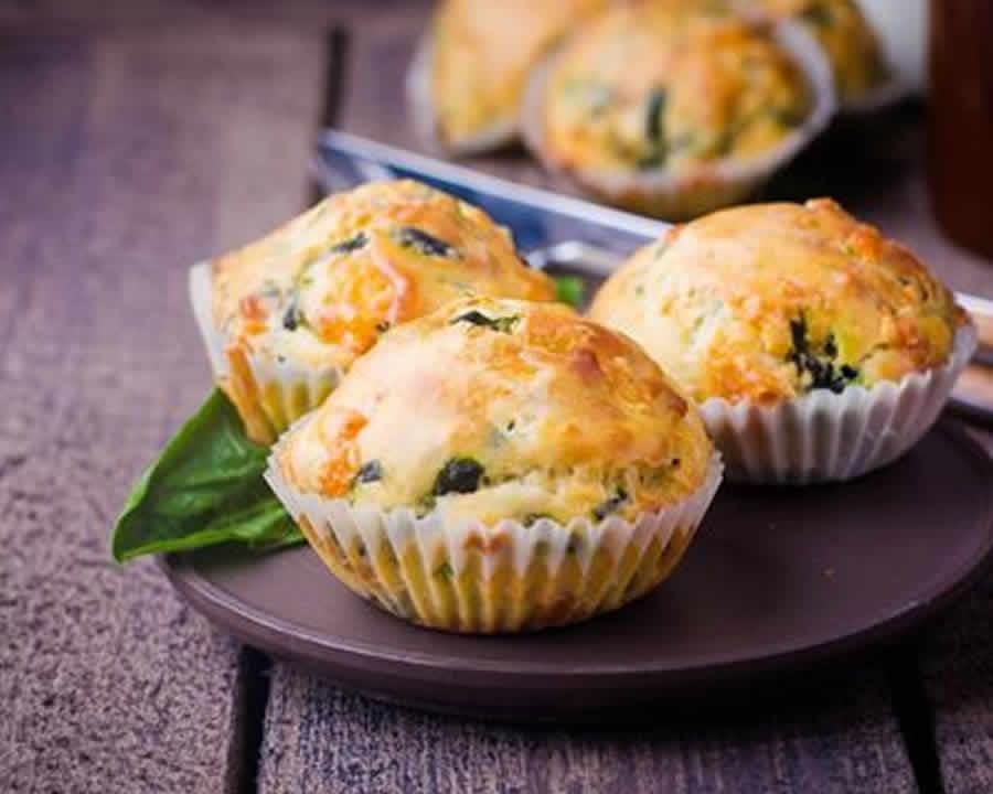 Mini muffins aux épinards et à la feta au thermomix