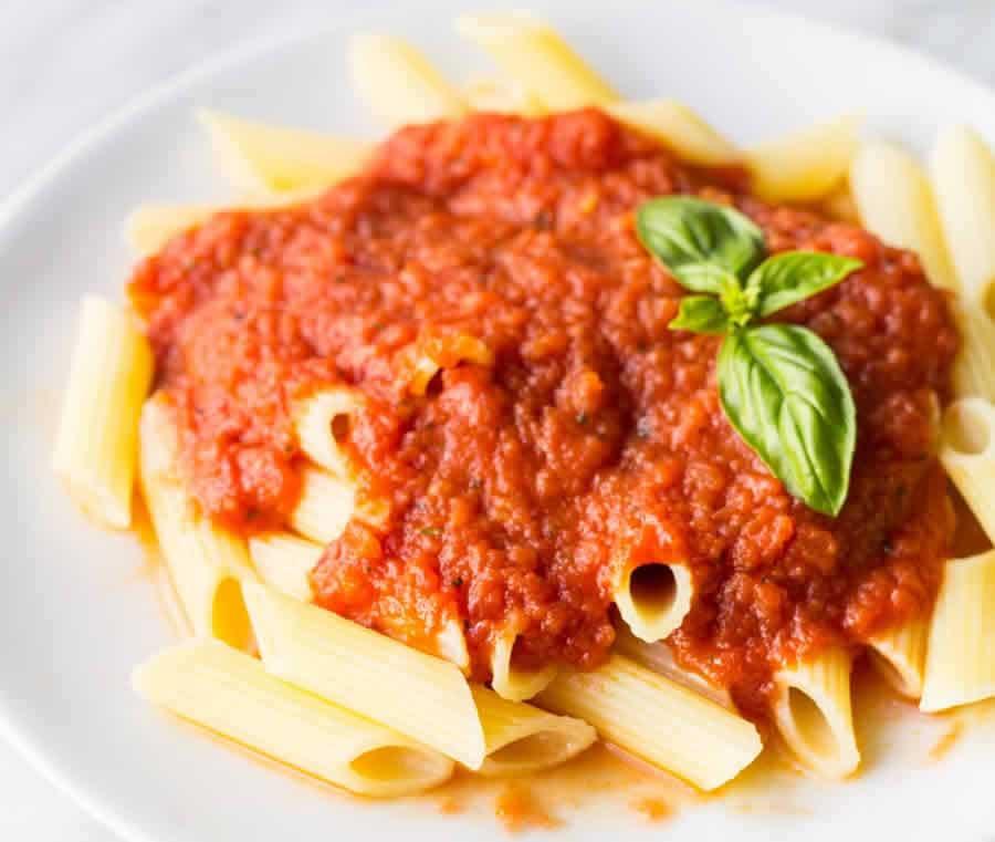 Pasta au Sauce Napoli Recette WW Smart Point