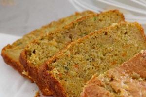 Cake aux pommes carottes et courgettes au thermomix