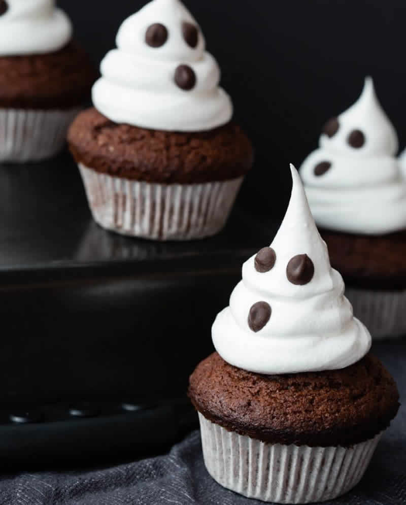 Cupcakes fantômes d'Halloween au thermomix