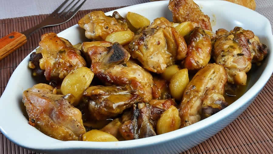 Pollo al ajillo ou poulet à l'ail au thermomix