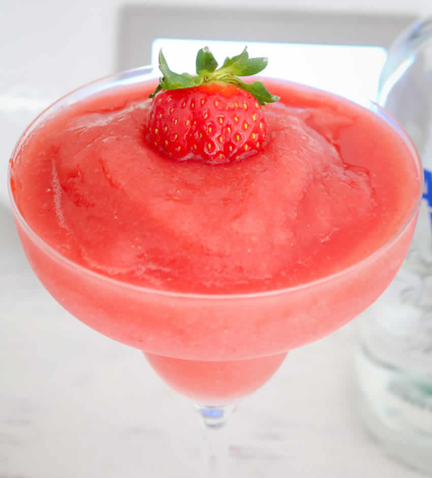 Slush de vodka aux fraises au thermomix