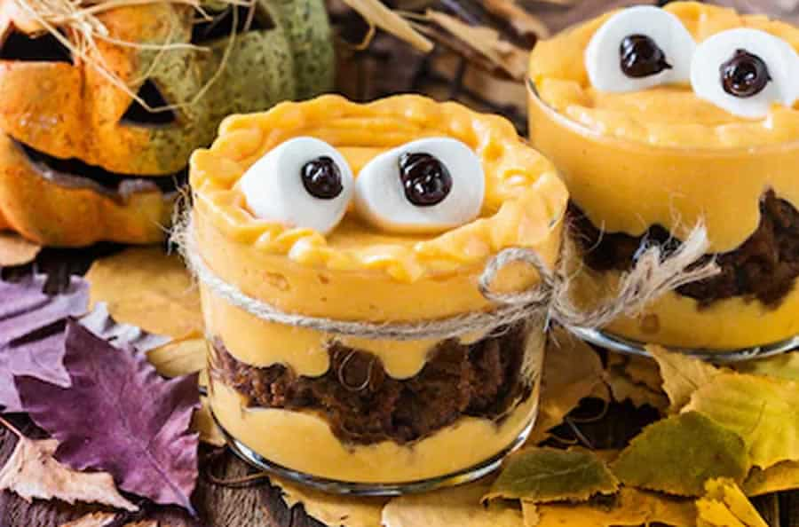 Tiramisu Halloween au potiron chocolat au thermomix