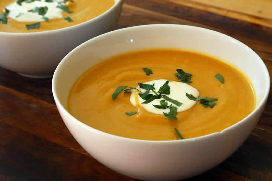 Velouté de butternut et carottes au thermomix