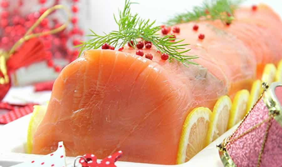Bûche aux deux saumons au thermomix