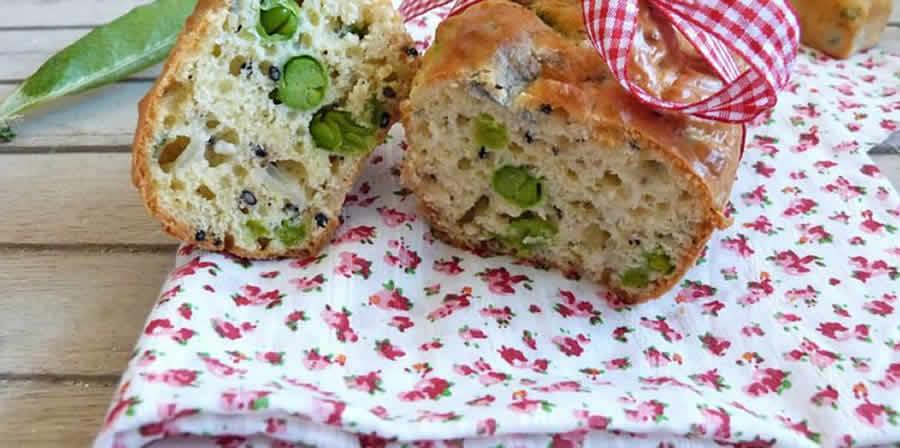 Cake petits pois courgettes et chèvre au thermomix