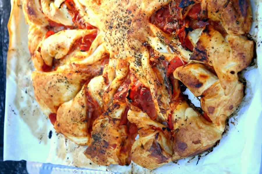 Pizza soleil torsadée au thermomix