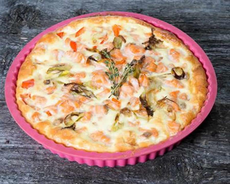 Quiche sans pâte au brocoli et saumon au thermomix