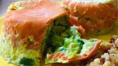 Timbales de saumon à la mousse de courgette au thermomix