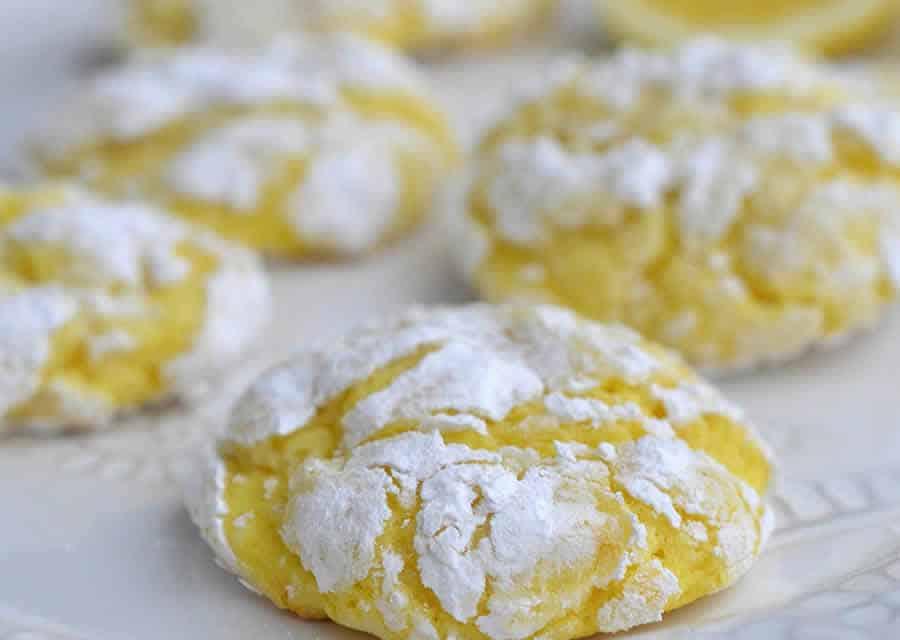 Biscuits craquelés au citron et noix de coco au thermomix