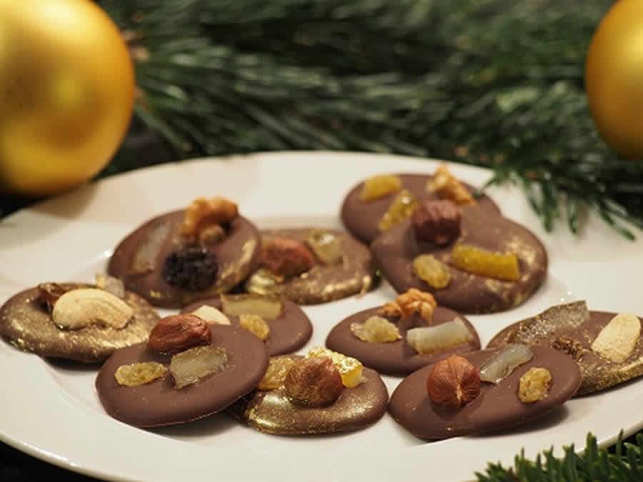Mendiants au chocolat de Noël au thermomix