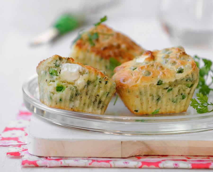 Muffins petits pois comté au thermomix