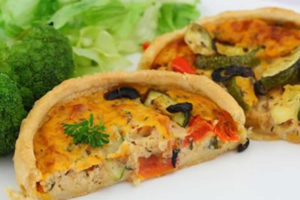 Quiche courgette poulet au thermomix