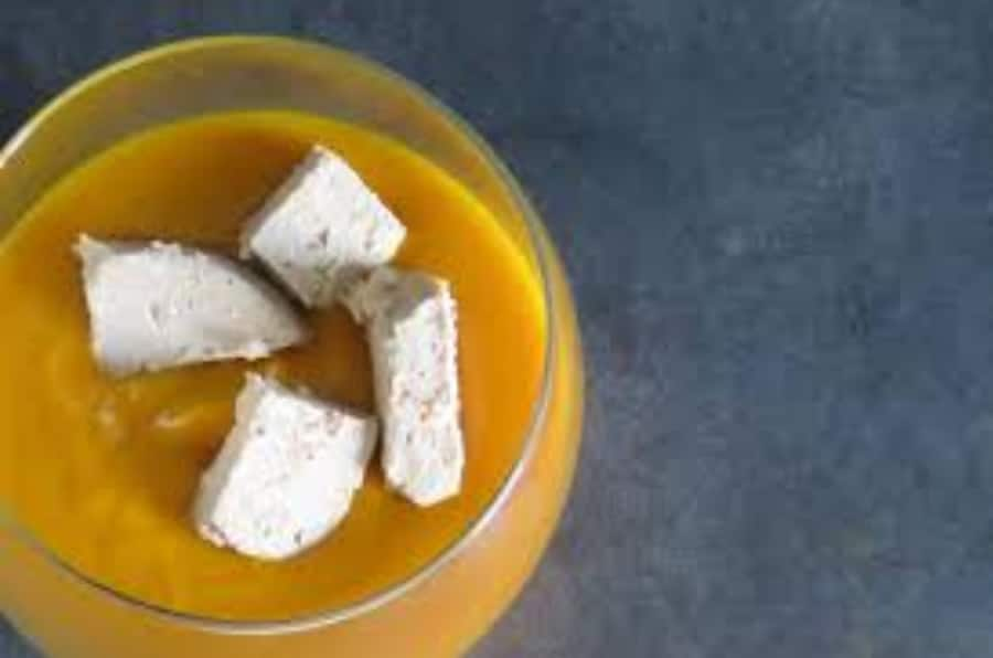 Velouté de potimarron aux épices et au foie gras au thermomix