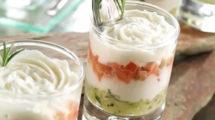 Verrines de concombre au jambon et à la crème au thermomix