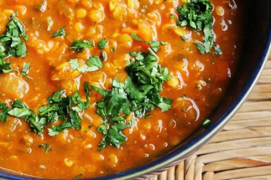 Lentilles à la marocaine au thermomix