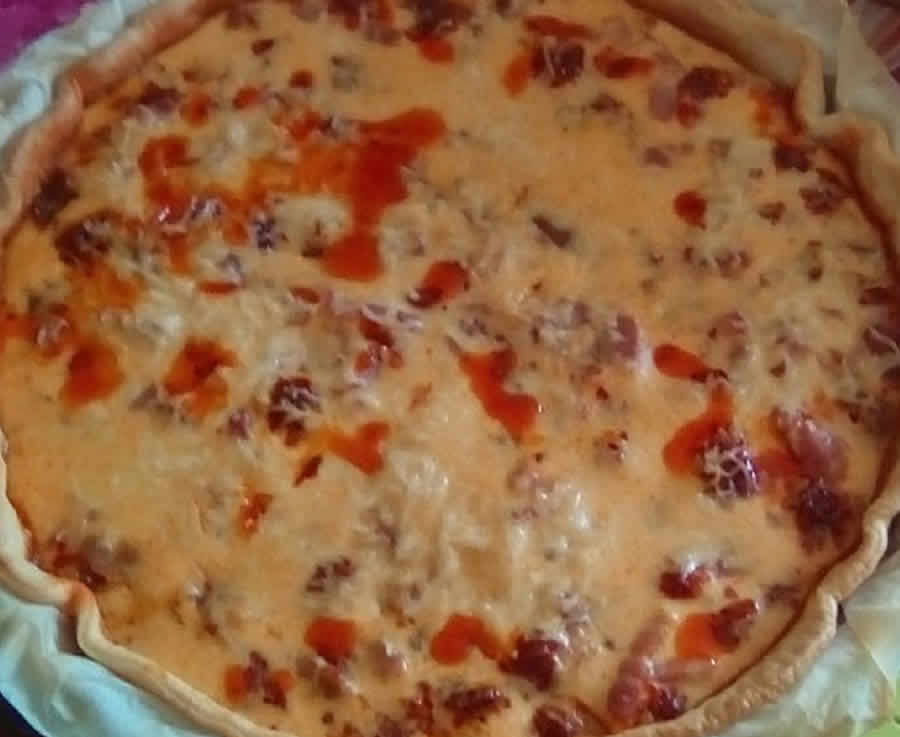 Quiche à la basquaise au thermomix