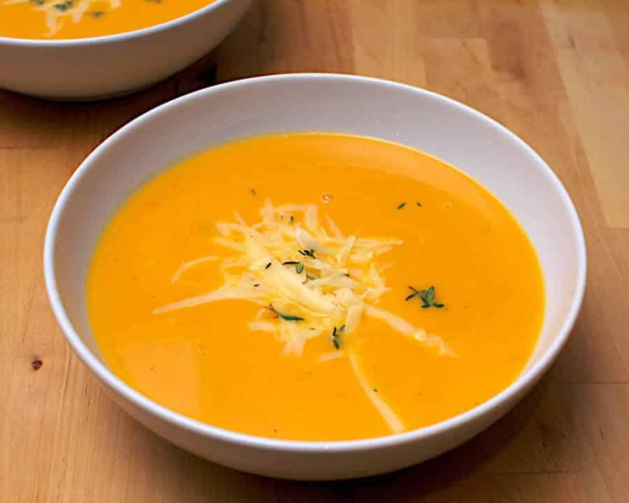 Soupe de courge carotte et comté au thermomix