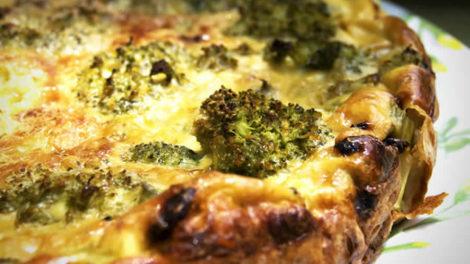 Tarte Brocolis et Roquefort au thermomix