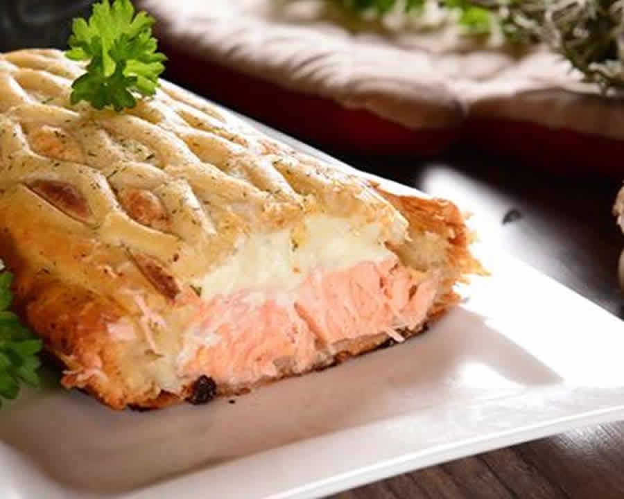 Tourte feuilletée au saumon au thermomix