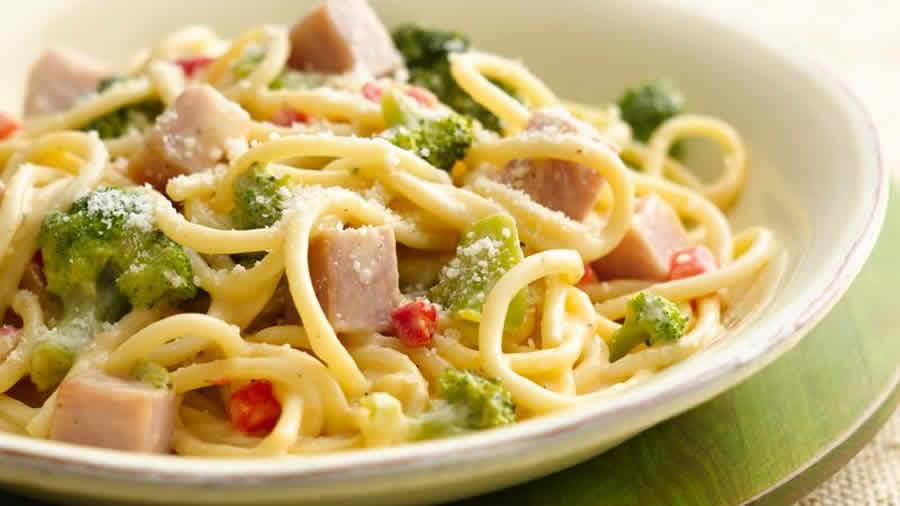 Spaghettis au jambon et brocolis au thermomix