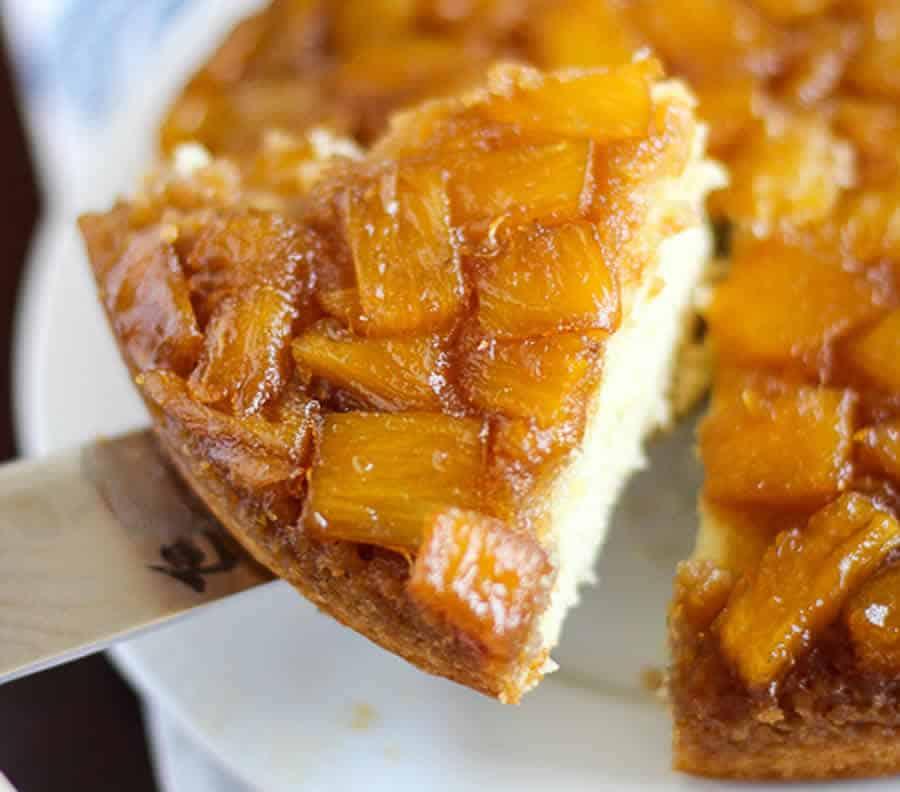 Tarte à l'ananas caramélisé au thermomix