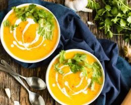 Velouté de Butternut au curry et lait de coco au thermomix