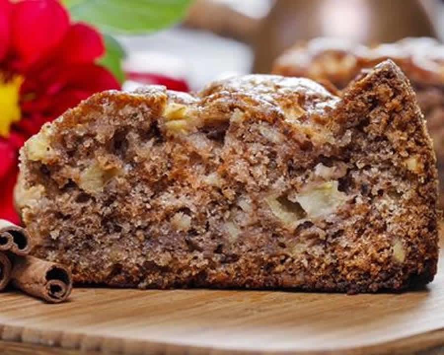 Cake pomme cannelle et noix au thermomix