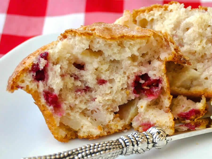 Cake aux pommes et framboises au Thermomix