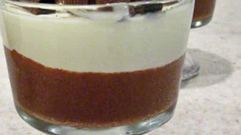Crème dessert aux deux chocolats au Thermomix