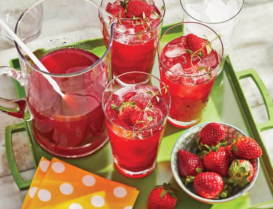 Ice Tea à la fraise au Thermomix