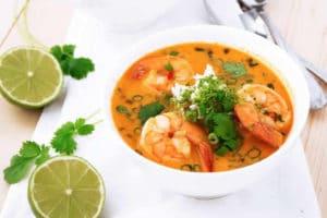 Soupe thaï aux crevettes au Thermomix