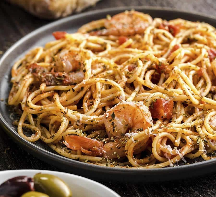 Spaghettis aux crevettes au Thermomix