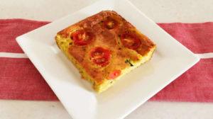 Clafoutis aux tomates et courgettes au Thermomix