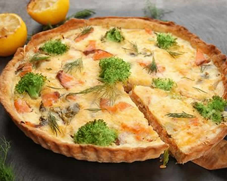 Quiche au saumon et brocolis au Thermomix