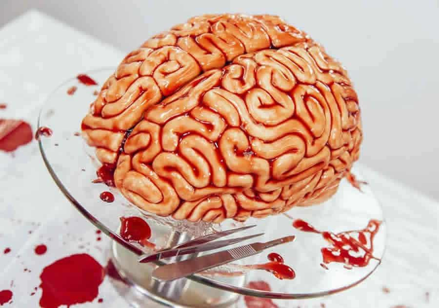 Gâteau cervelle d'Halloween au Thermomix