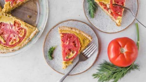 Quiche sans pâte au thon et tomates Recette WW
