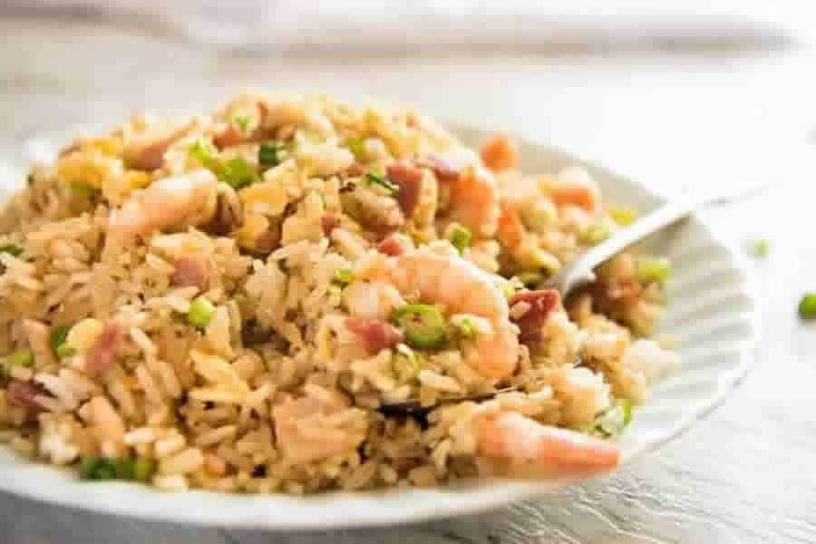 Riz cantonnais aux crevettes au Cookeo