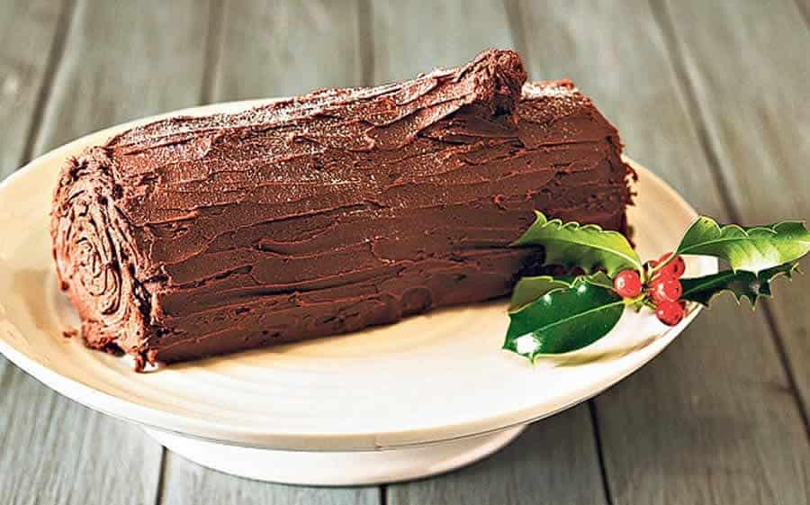 Bûche de Noël au chocolat Recette WW