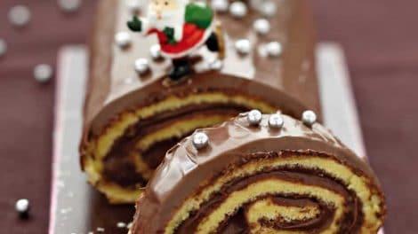 Bûche de Noël choco-marrons au thermomix