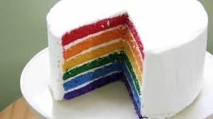 Gâteau arc-en-ciel au Thermomix